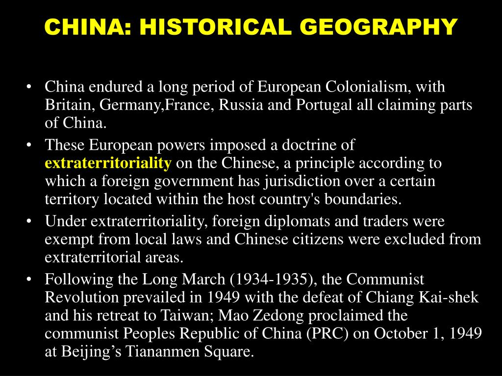 CHINA: HISTORICAL GEOGRAPHY
