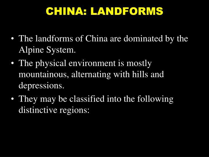 China landforms