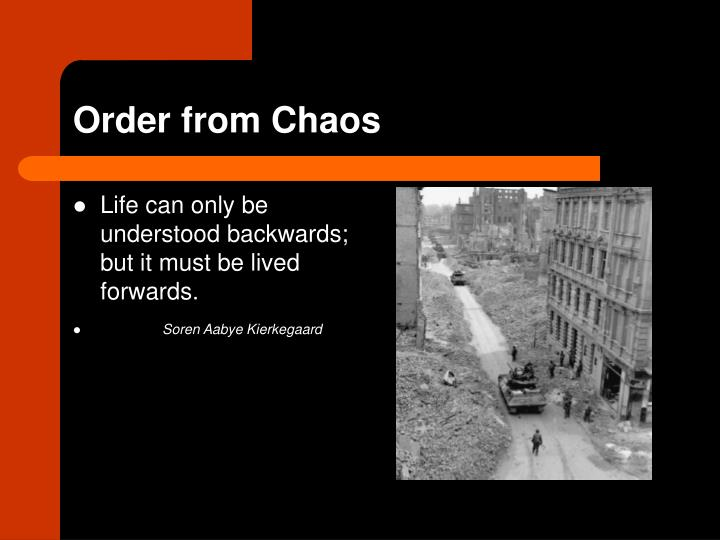 order from chaos n.