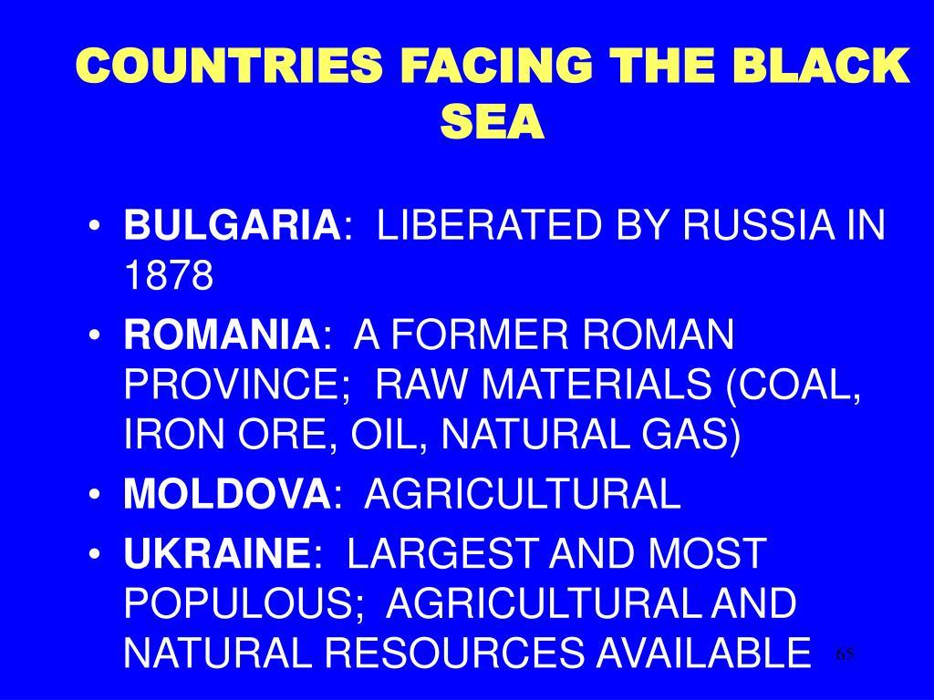 COUNTRIES FACING THE BLACK SEA