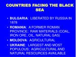 countries facing the black sea