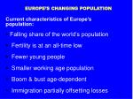 europe s changing population
