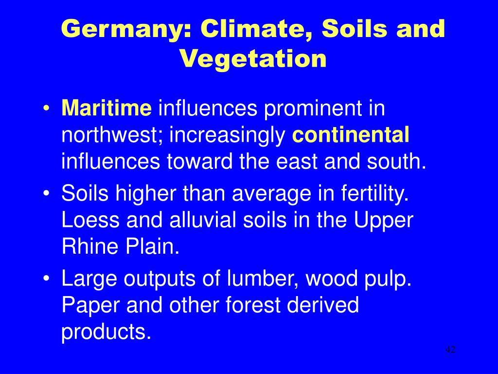 Germany: Climate, Soils and Vegetation