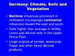 germany climate soils and vegetation