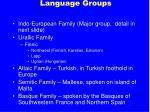 language groups