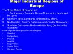 major industrial regions of europe