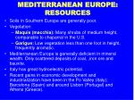 mediterranean europe resources