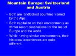 mountain europe switzerland and austria