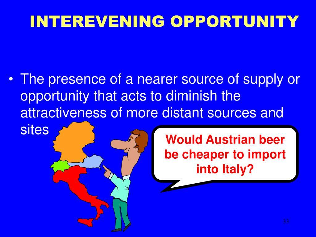 INTEREVENING OPPORTUNITY