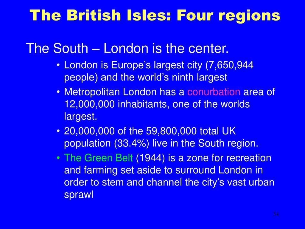 The British Isles: Four regions