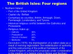 the british isles four regions37