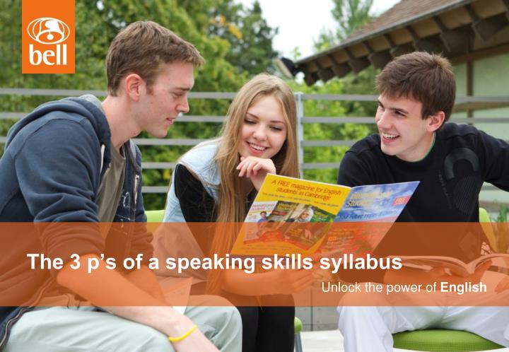 the 3 p s of a speaking skills syllabus n.