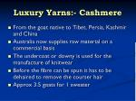 luxury yarns cashmere