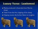 luxury yarns lambswool