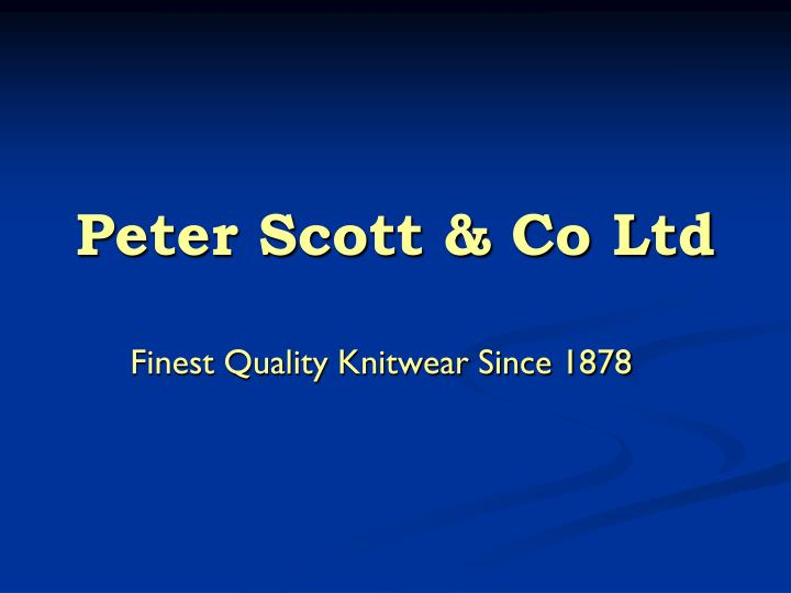 Peter scott co ltd