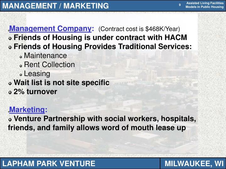 MANAGEMENT / MARKETING