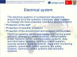 e lectrical system