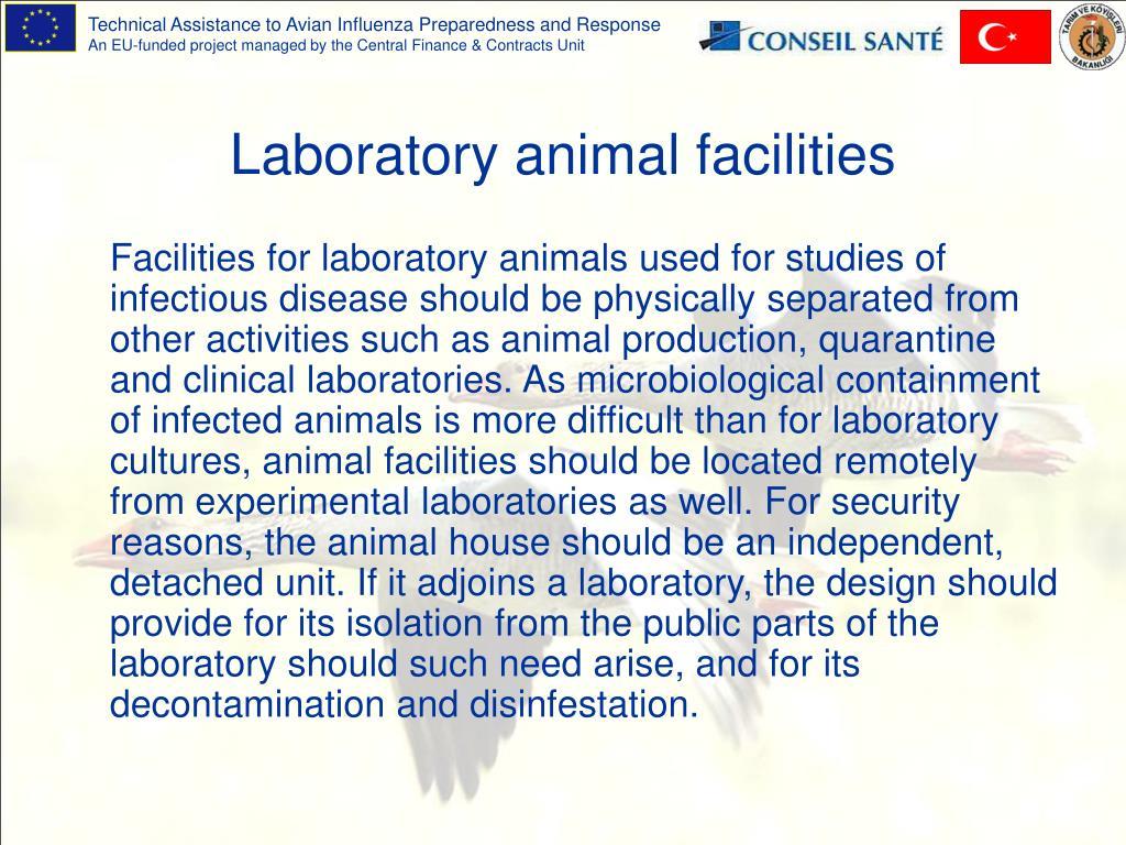 Laboratory animal facilities