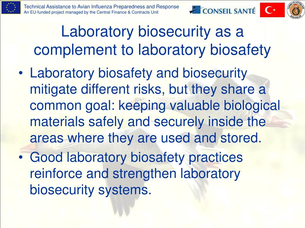 Laboratory biosecurity as a complement