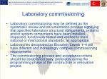 laboratory commissioning