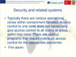 security and related s ystems
