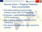 security zone 1 property protection area uncontrolled