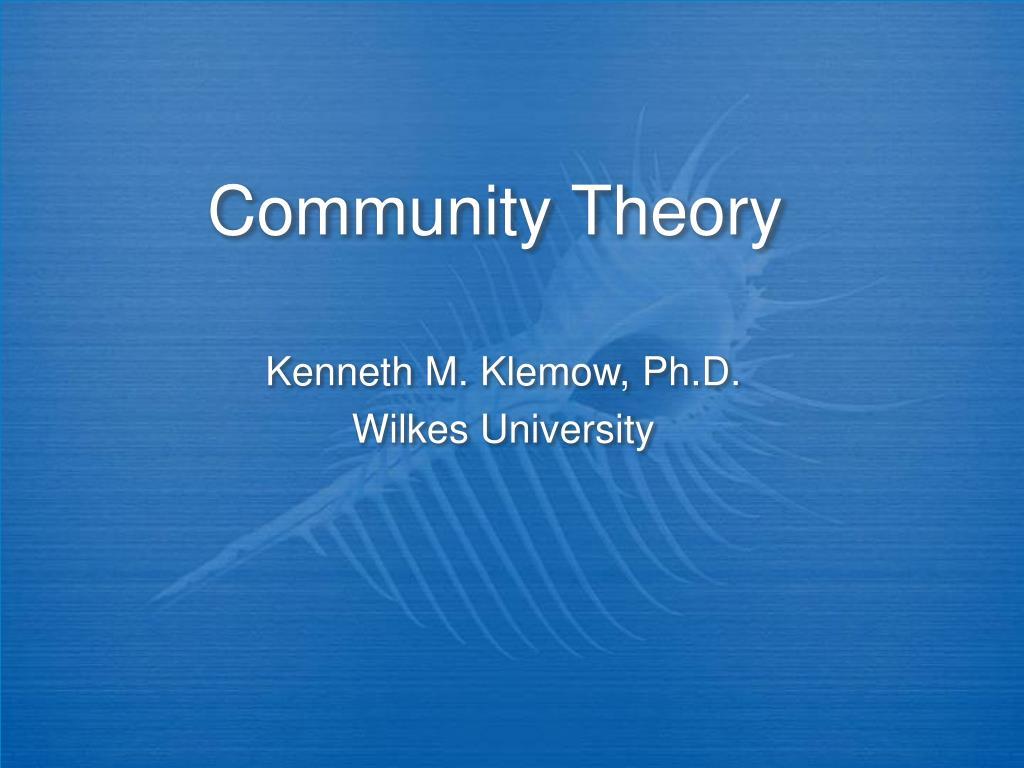 community theory l.