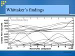 whittaker s findings13