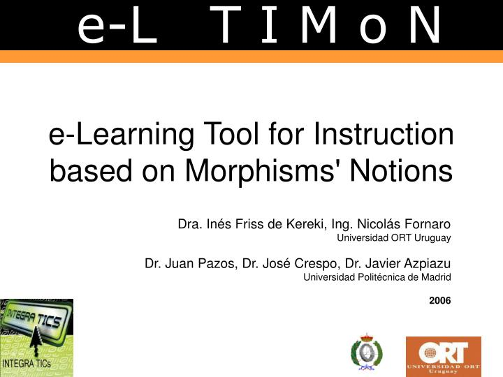 e learning tool for instruction based on morphisms notions n.