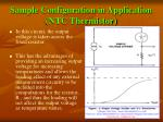 sample configuration in application ntc thermistor18