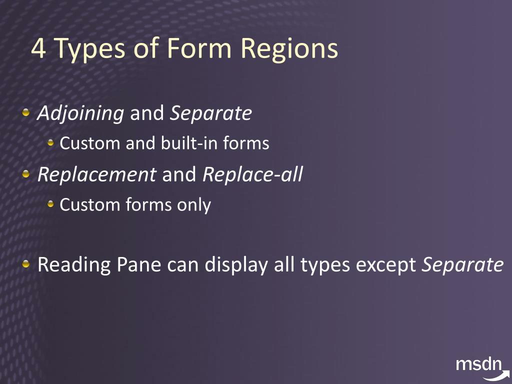 4 Types of Form Regions