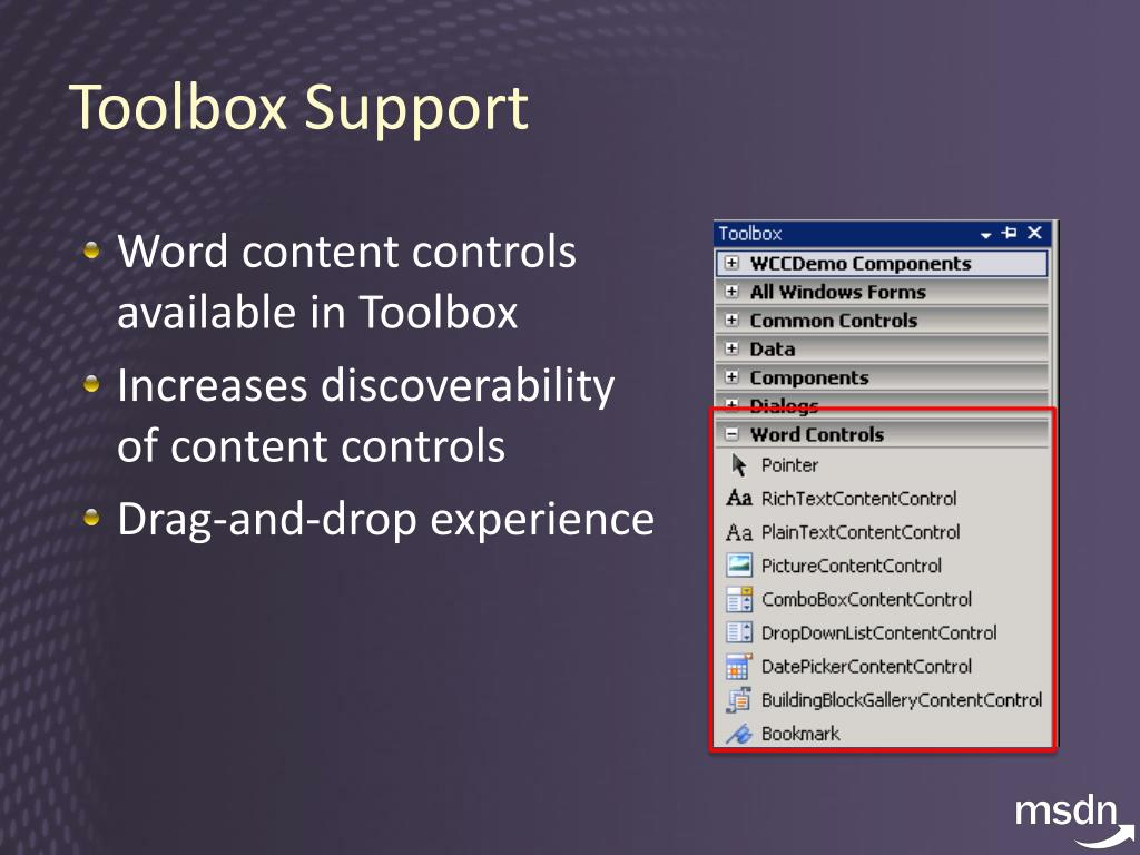 Toolbox Support