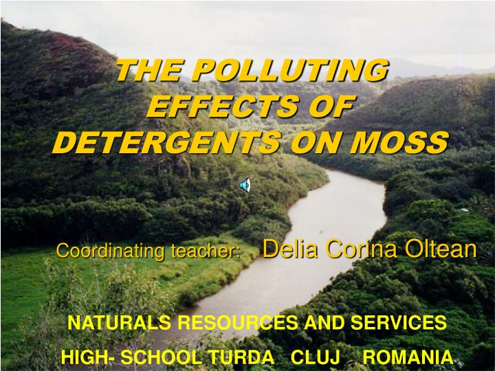 the polluting effects of detergents on moss n.