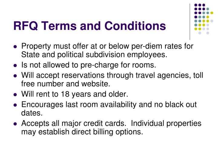 RFQ Terms and Conditions