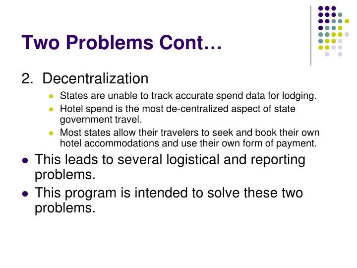 Two problems cont