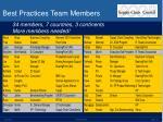 best practices team members