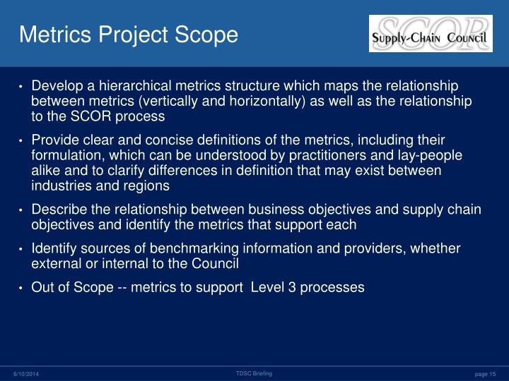 Metrics Project Scope