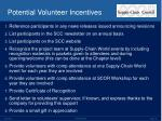 potential volunteer incentives