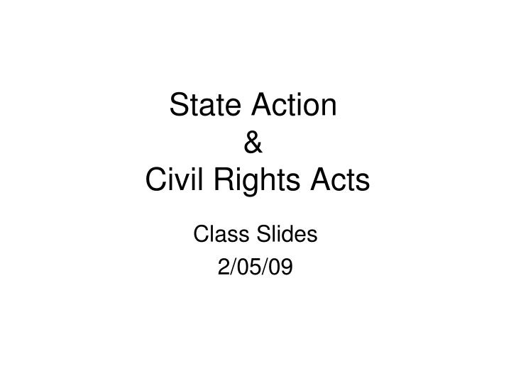 state action civil rights acts n.