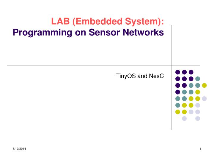 lab embedded system programming on sensor networks n.