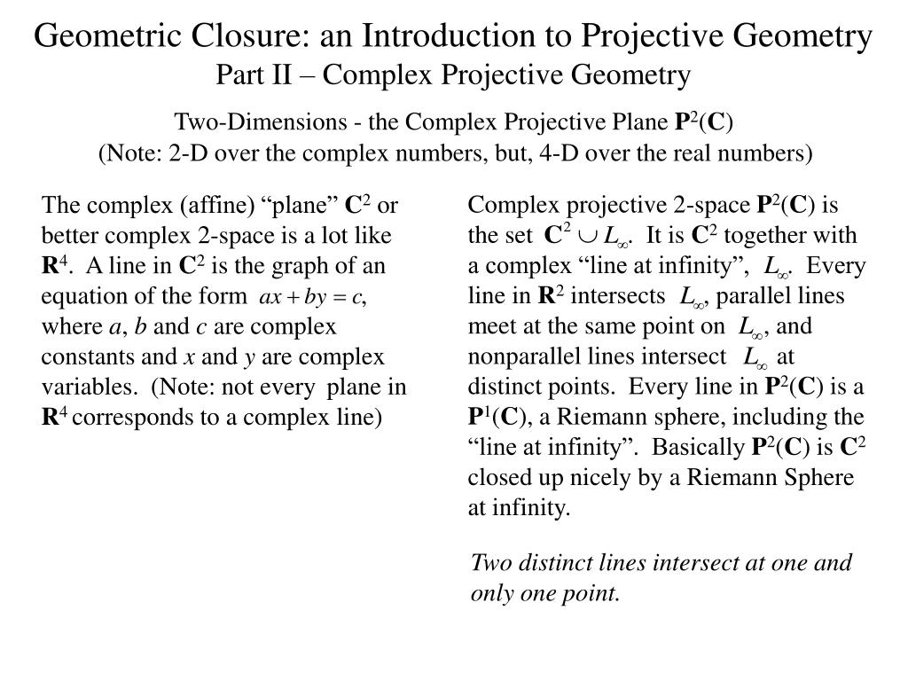 Complex projective 2-space