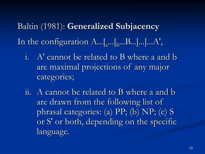 Baltin (1981):