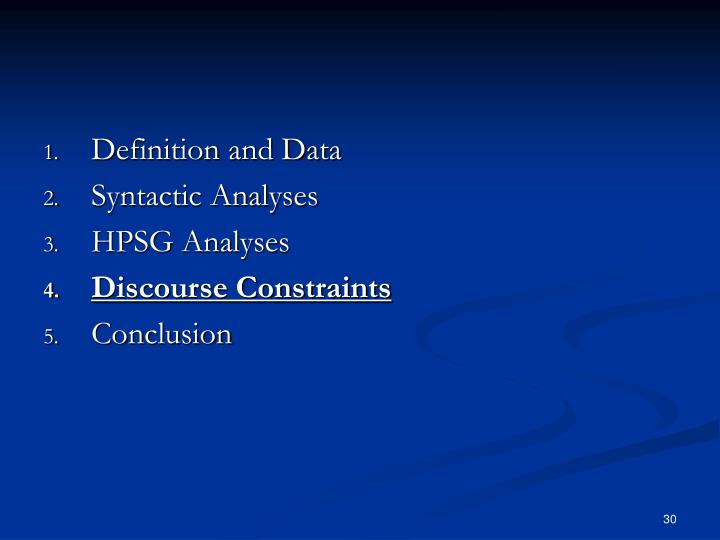 Definition and Data