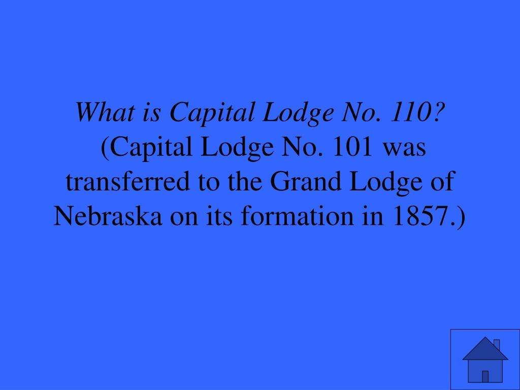 What is Capital Lodge No. 110?