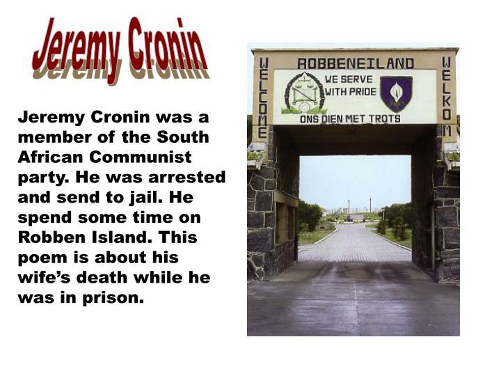 Jeremy Cronin