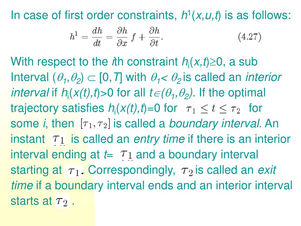 In case of first order constraints,
