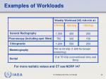 examples of workloads