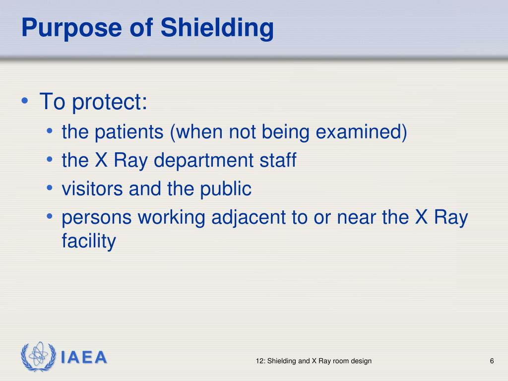 Purpose of Shielding