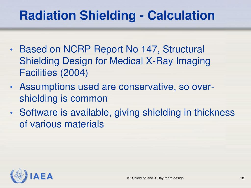 Radiation Shielding - Calculation