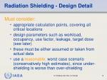 radiation shielding design detail